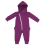 Gugguu: College Jumpsuit, Purple with Grey Zip