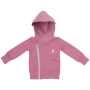 Gugguu: College Hoodie, Mauve With Grey Zipper