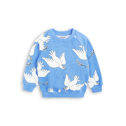 Mini Rodini: Peace Sweatshirt, blue