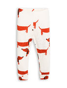 Mini Rodini: Dog Leggings, Offwhite