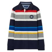 Gant: Boy's Striped Rugby Shirt, evening blue