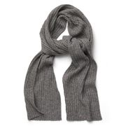 Gant: Cotton/Wool Scarf, dark grey melange