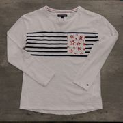 Tommy Hilfiger: Ame Girls Star Cn Knit LS, White