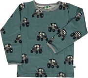 Småfolk: T-shirt with tractor, bluestone