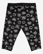 Desigual: FLORAL -Capri Leggings, Black