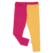 Gugguu: Leggings, Bright Rose/ Sunny Yellow