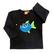 Lipfish: Shirt with angler fish, black