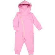Gugguu: College Jumpsuit, Pink Cloud With Soft Rose Zipper