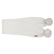 Gugguu:  Scarf With Tufts, White Grey