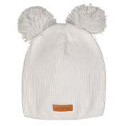 Gugguu: Double Tuft Beanie, White Grey