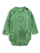 Mini Rodini: Fox Family LS Body, Green