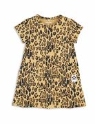 Mini Rodini: Basic Leopard dress, beige