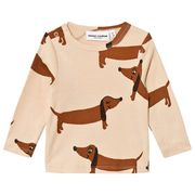 Mini Rodini: Dog Ls Tee, Beige