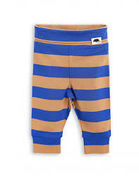 Mini Rodini: Blockstripe NB Leggings, Blue/Beige