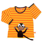 Lipfish: Long-sleeved shirt with monkey, orange