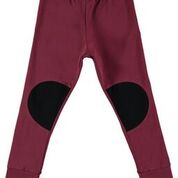 Papu; Burgundy Patch leggins, child and adult