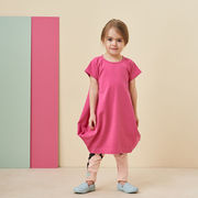 Papu:KANTO DRESS, Very pink, short sleeve
