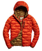 Superdry: Wave quilt hooded jacket