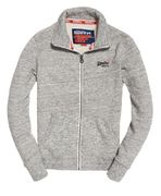 Superdry: Orange label track top, Pacific grey grit