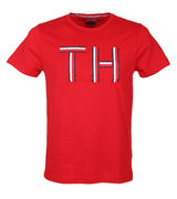 Tommy Hilfiger: Logo graphic tee, Red
