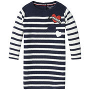 Tommy Hilfiger: M Stripe Sweater Dress LS, White/Navy