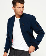 Superdry: Wax Flight Bomber Jacket, navy