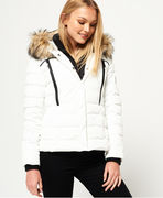 Superdry: Glacier Biker Jacket, white