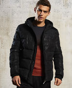 Superdry: Sports Puffer Jacket, black camo
