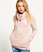 Superdry: Applique Funnel Hoodie, canyon pink