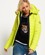 Superdry: Box Quilt Fuji Hooded Jacket, sport code yellow