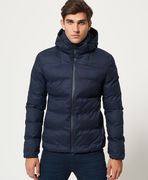 Superdry: Echo Quilt Puffer Jacket, navy