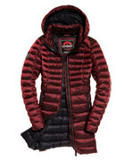 Superdry: Blisse down parka jacket, Luxe berry