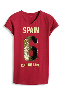 Esprit: T-shirt, Soccer with reversible paljets