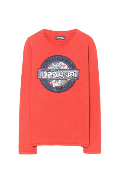 Desigual: Long-sleeved shirt, red