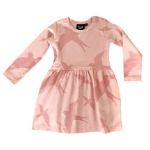 Blaa!: Swallow Wrinkle Dress, Peach Pink