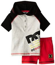 DC: Baby-Boys Newborn Hoody W/ Red Shorts