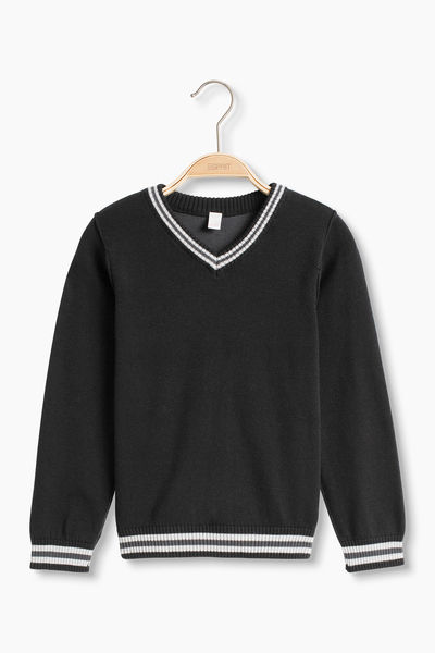 Esprit: Knitshirt, black 100% cotton