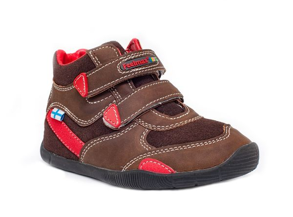 Feelmax: Barefoot Shoes Vuoma, Brown / Red
