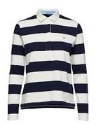 Gant Original barstripe heavy rugger long sleeve shirt, Evening blue