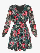 Guess: eulalia dress, green/black