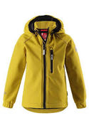 Reima: softshell Jacket Vantti, dark yellow