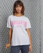 SUPERDRY panel tee,  ice marl