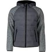 Superdry mens jacket Sonic hybrid zip through, sonic grey grit