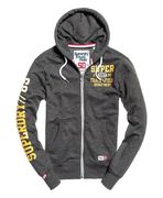 Superdry: Trackster ziphood, Black field grit