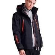Superdry mens jacket  hooded tech attacker ,black