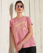 Superdry workwear graphic tee, dusty rose