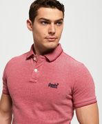Superdry poolside pique s/s polo, Coral