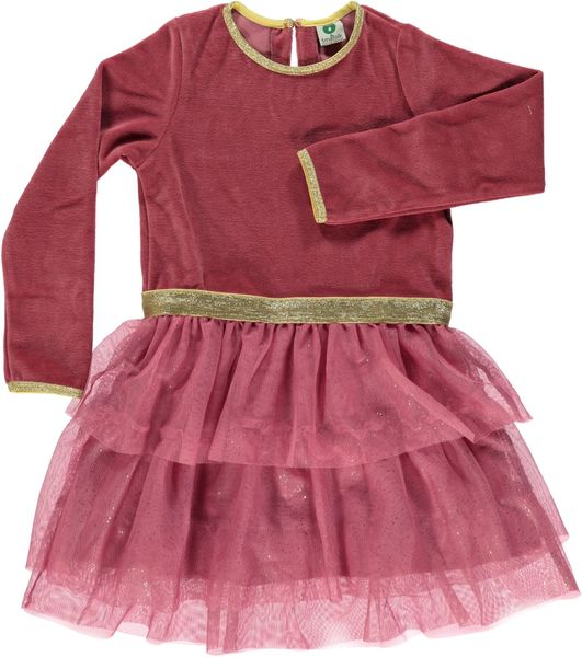 Småfolk: Velvet Dress with 3 layer skirt, mesa rose