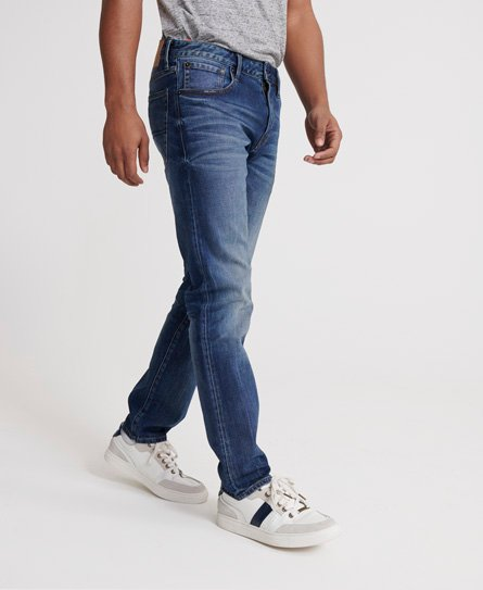 Superdry 04 Daman straight jeans, sixways mid blue