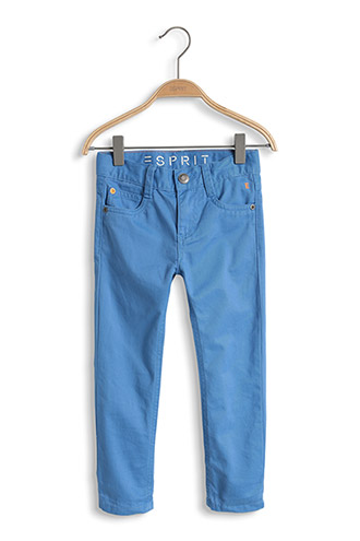 Esprit: Stretch Cotton Trousers, Blue